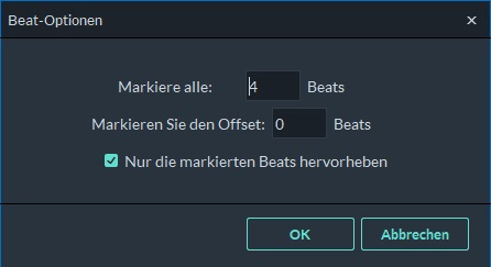 Beat-Optionen
