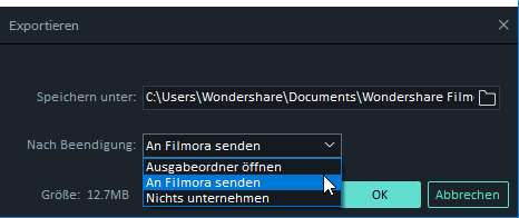 Filmora Windows Instant-Cutter-Tool Export