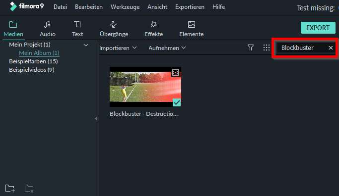 filmora windows nach mediendateien suchen