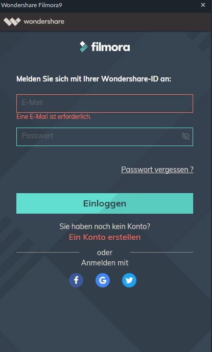 wondershare-id registrieren anmelden windows
