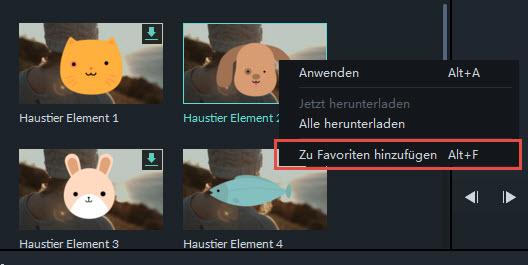 Filmora Windows Übergänge zufällig auf ausgewählte Clips anwenden