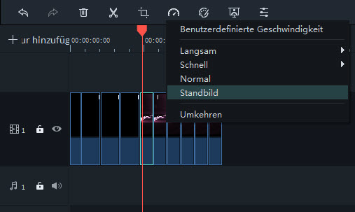 Filmora Windows Standbild hinzufügen