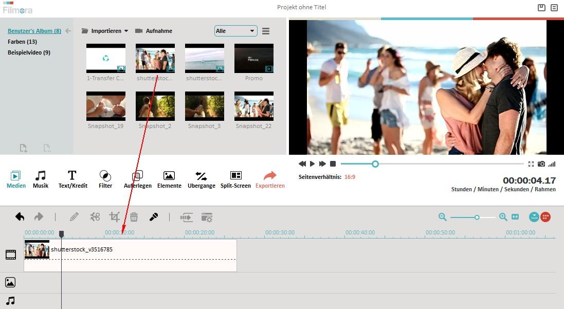 Video schneiden/zusammenfügen/teilen | Filmora User Guide