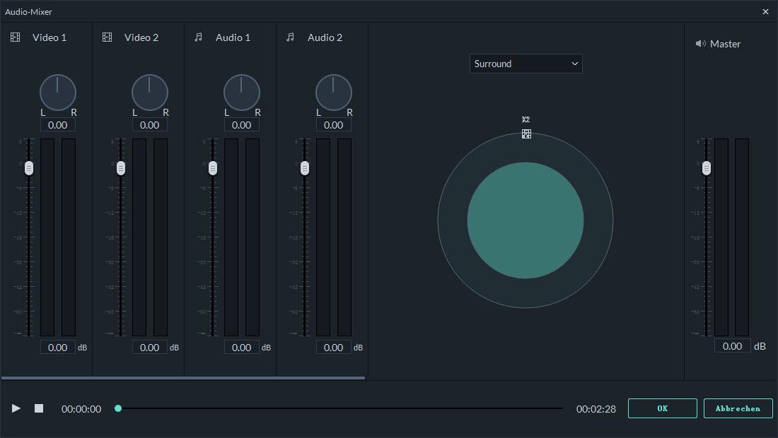 filmora mac audiomixer einstellungen
