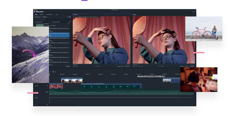 FilmoraPro kostenloses videobearbeitungsprogramm