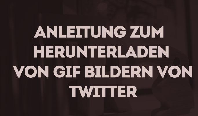 Anleitung zum Herunterladen von GIF Bildern von Twitter