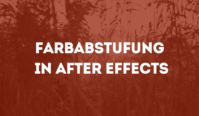 Farbabstufung in After Effects