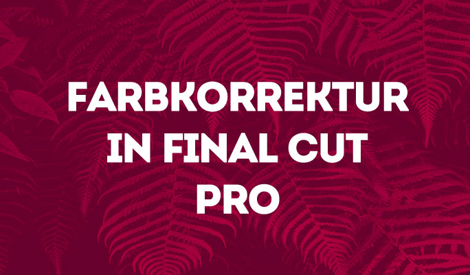 Farbkorrektur in Final Cut Pro