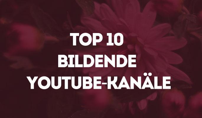 Top 10 bildende YouTube-Kanäle