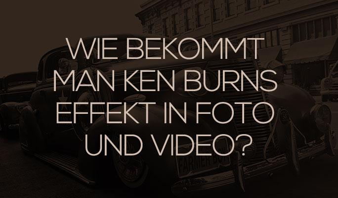 Wie man Ken Burns Effekt in Foto- und Video bekommt
