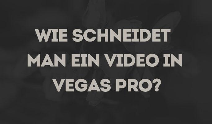 Wie ein Video in Vegas Pro schneiden