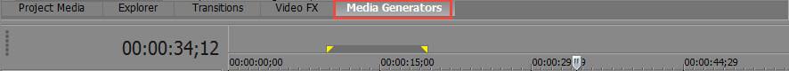 Media Generators Tab