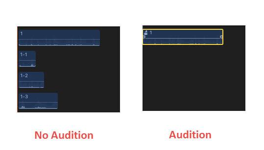 Kreieren von Auditions -2