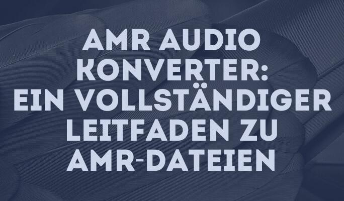 AMR Audio Konverter: Ein vollständiger Leitfaden zu AMR-Dateien