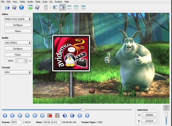 iMovie alternative 4: Avidemux