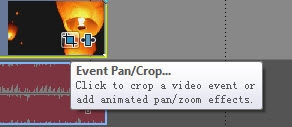 Hit the Event pan/crop button
