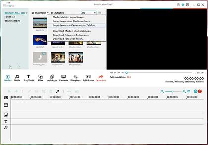 Die zusammengefügte YouTube Videos ziehen und ablegen