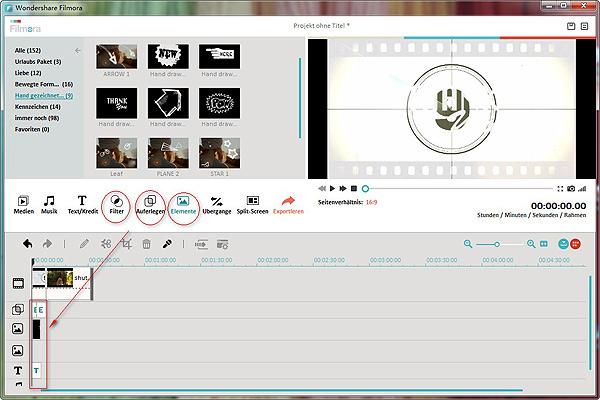 Bearbeiten Sie das Video in der Videobearbeitungssoftware