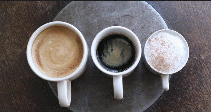 morgen. mittag und abend kaffee