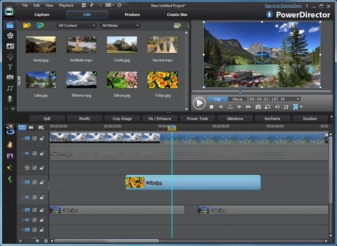 Video zusammenschneiden mit PowerDirector