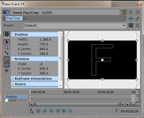 Use Event Pan/Crop Window