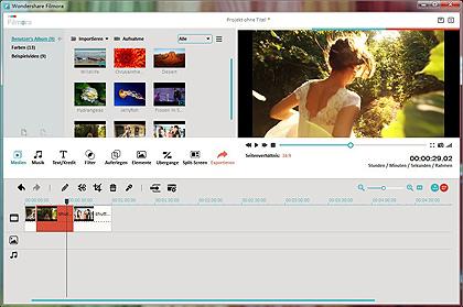 Videobearbeitungssoftware für den Greenscreen-Effekt