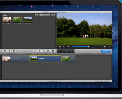 iMovie alternative 1: Filmora für Mac