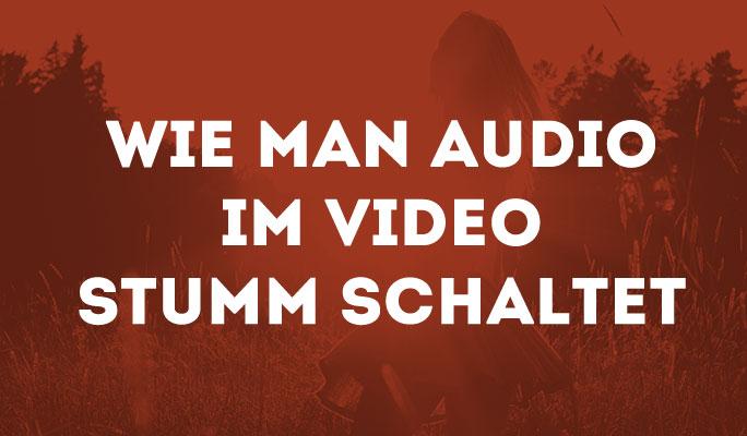 Audio stummschalten
