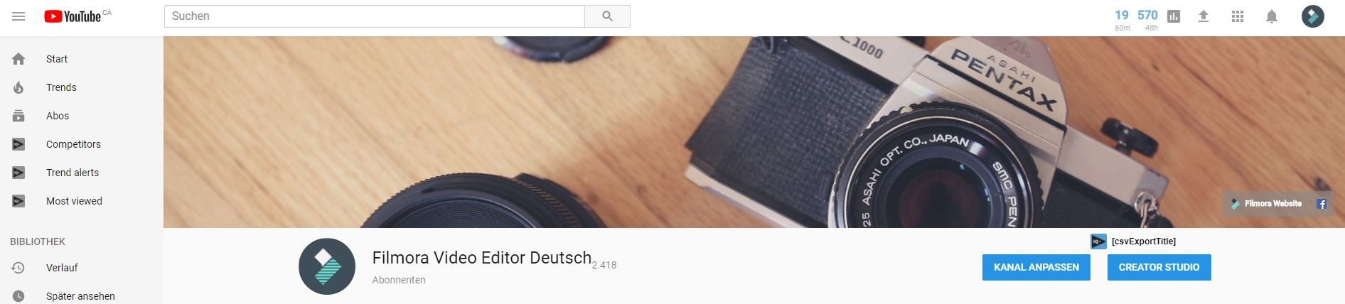 50 Kostenlose Banner-Vorlagen für YouTube