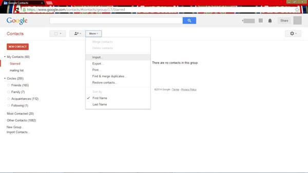 Synchronisieren von iCloud-Kontakten mit Google