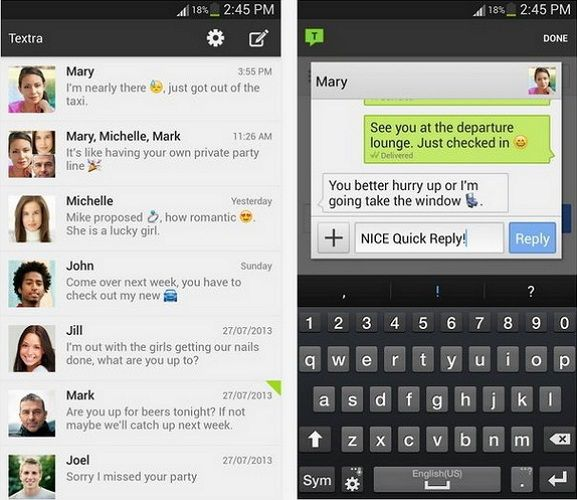 sms manager apps for android