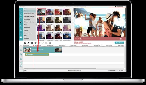 Wondershare Videobearbeitung für Mac
