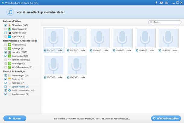 iPhone 5 Sprachmemos wiederherstellen