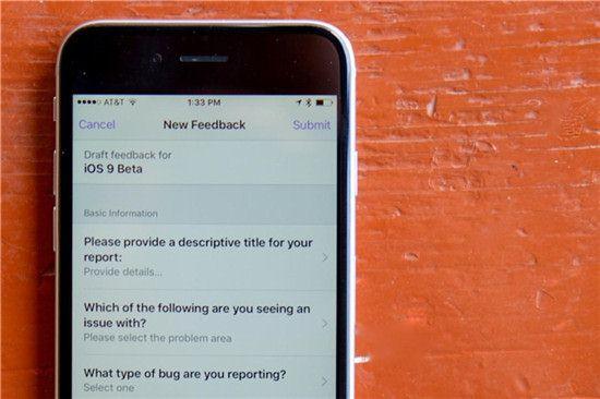 Einen Bug auf iOS 9 Beta melden