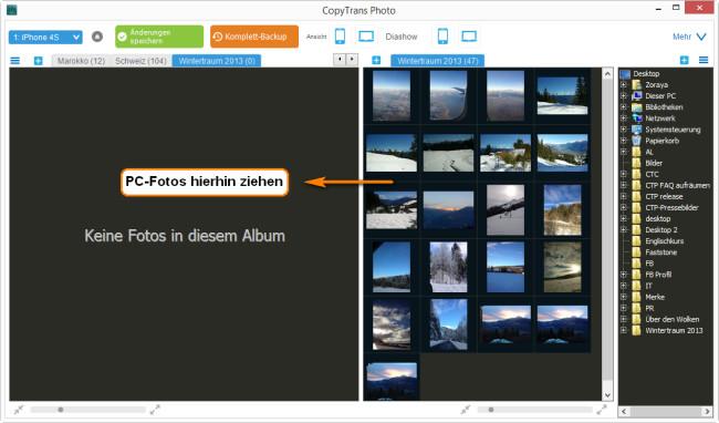 fotos von computer auf iphone