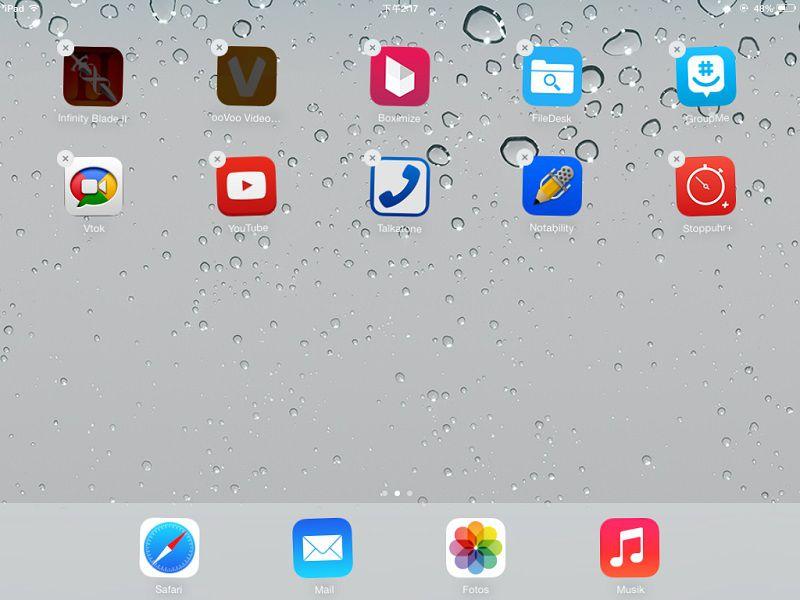 apps vor upgrade auf iOS 8 löschen