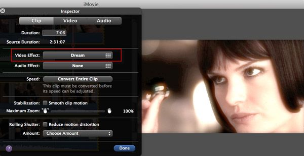 add effect in imovie