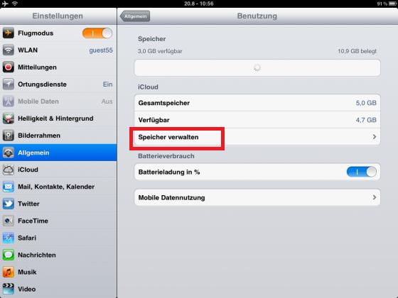 iPad Email wiederherstellen