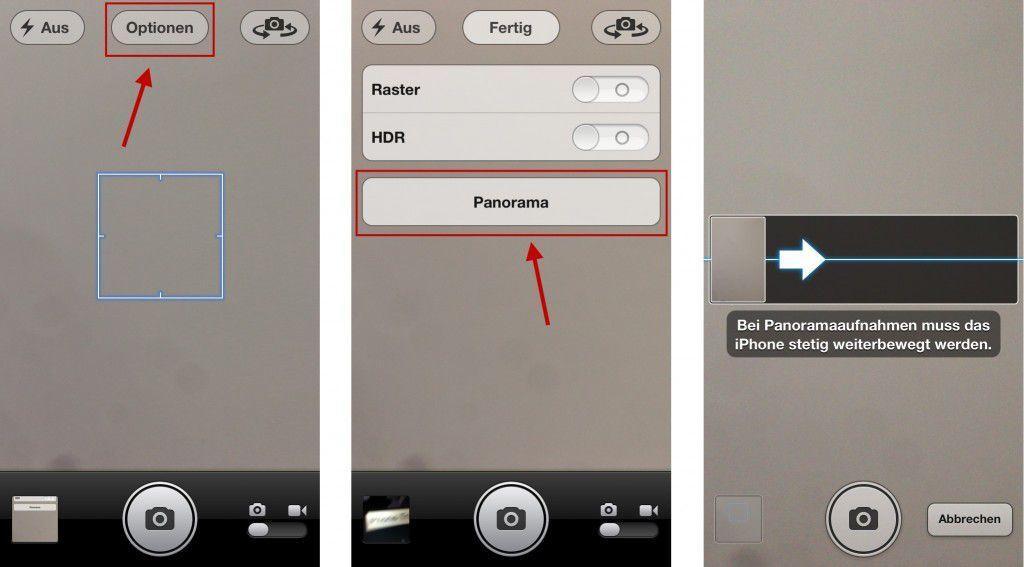 iPhone Panorama Fotos