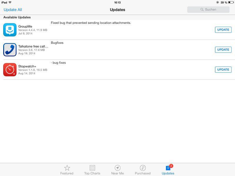 updaten apps vor upgrade auf iOS 8