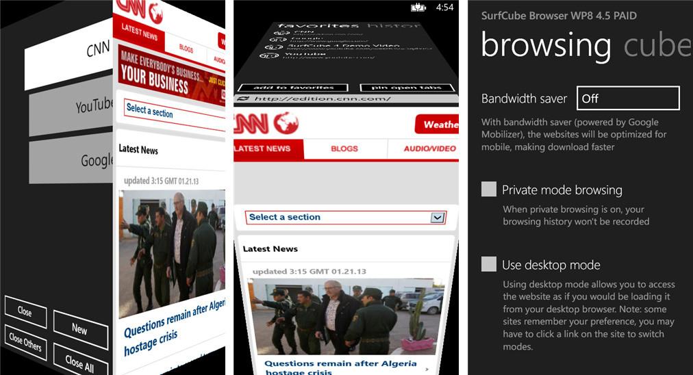 Die Top 7 der besten Browser für Windows Phone