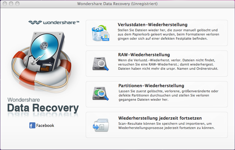 Wondershare Data Recovery für Mac