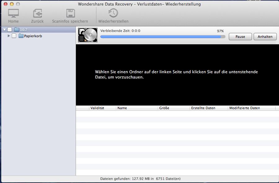 überschriebene Dateien auf mac wiederherstellen