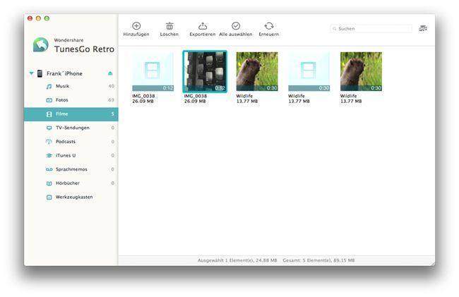 videos vom iphone aufs mac übertragen