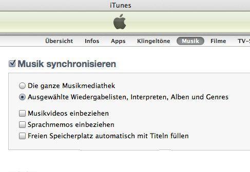 musik vom Mac Mavericks auf iPhone