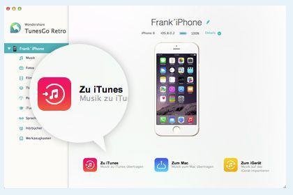 TunesGo für Mac (iOS) key feature