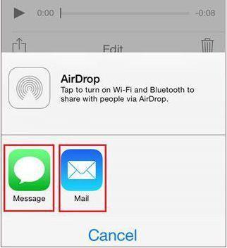 iPhone Sprachnotizen via E-Mail/MMS übertragen