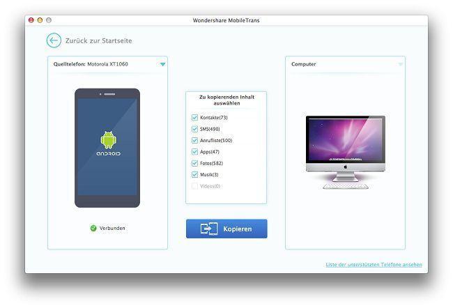 android daten auf mac sichern