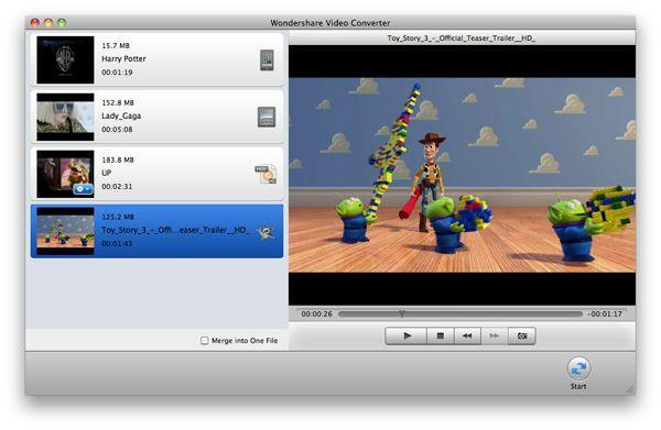 video Converter for Mac, Main interface
