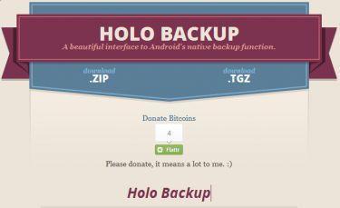 Holo Backup